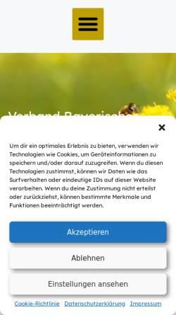Vorschau der mobilen Webseite www.v-b-b.net, Verband Bayerischer Bienenzüchter