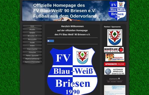 Vorschau von www.fv-blau-weiss-90-briesen.de, FV Blau-Weiß 90 Briesen