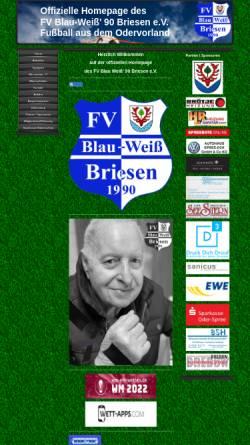 Vorschau der mobilen Webseite www.fv-blau-weiss-90-briesen.de, FV Blau-Weiß 90 Briesen