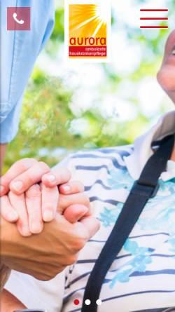 Vorschau der mobilen Webseite pflege-aurora.de, Aurora ambulante Gesundheitspflege