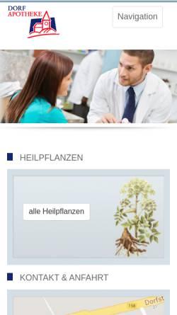 Vorschau der mobilen Webseite www.dorf-apotheke-ahrensfelde.de, Dorf Apotheke