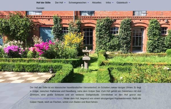 Vorschau von www.hofderstille.de, Hof der Stille