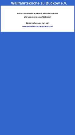 Vorschau der mobilen Webseite www.wallfahrtskirche-buckow.de, Förderverein Wallfahrtskirche zu Buckow e.V.