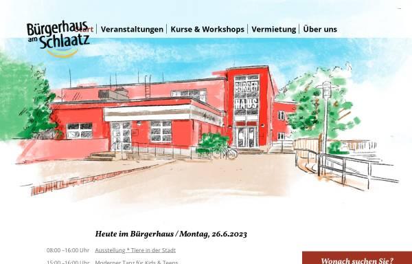 Vorschau von www.buergerhaus-schlaatz.de, Bürgerhaus am Schlaatz - Potsdam