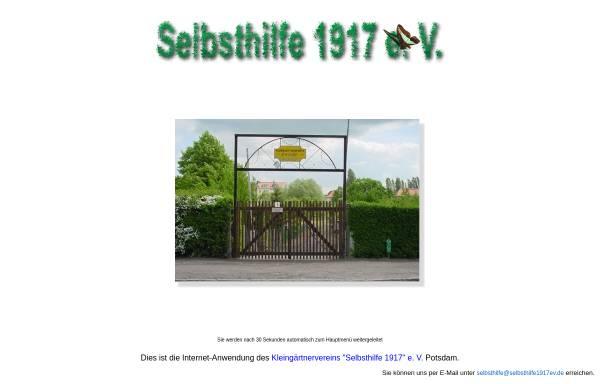 Vorschau von www.selbsthilfe1917ev.de, Kleingartensparte Selbsthilfe 1917 e.V. Potsdam