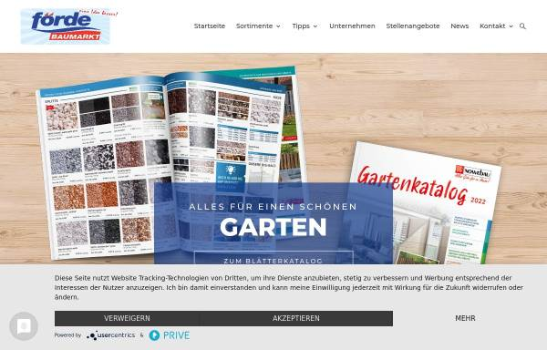 Vorschau von www.foerde-baumarkt.de, Förde Baumarkt Holger Clausen GmbH