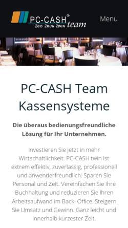 Vorschau der mobilen Webseite www.pc-cash-team.de, PC-CASH Computerkassensysteme