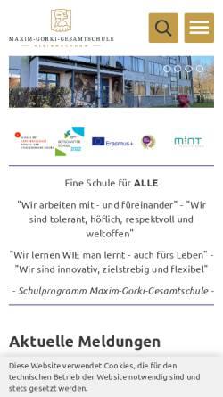 Vorschau der mobilen Webseite maxim-gorki-gesamtschule.kleinmachnow.de, Maxim-Gorki-Gesamtschule