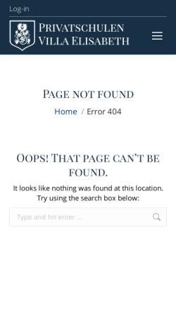 Vorschau der mobilen Webseite privatschulen-ve.de, Gymnasium Villa Elisabeth