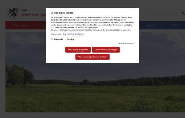 Vorschau von www.amt-schenkenlaendchen.de, Amt Schenkenländchen