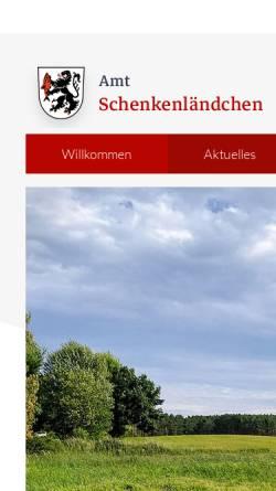 Vorschau der mobilen Webseite www.amt-schenkenlaendchen.de, Amt Schenkenländchen