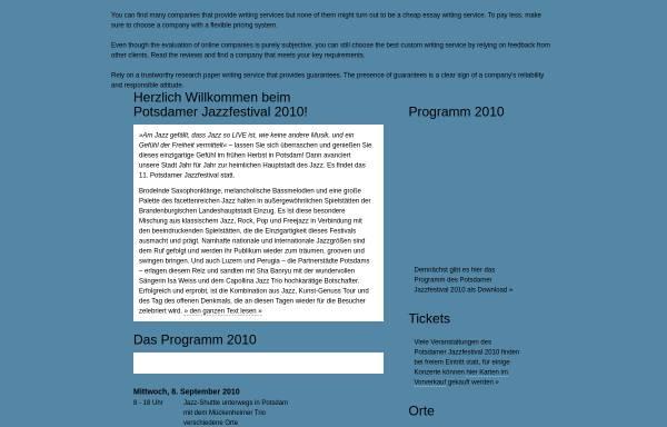 Vorschau von www.potsdamer-jazzfestival.de, Potsdamer Jazzfestival