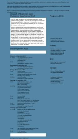 Vorschau der mobilen Webseite www.potsdamer-jazzfestival.de, Potsdamer Jazzfestival