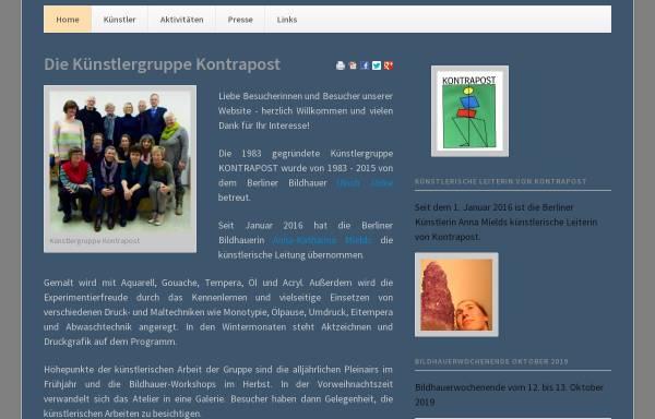 Vorschau von www.kontrapost.de, Künstlergemeinschaft Kontrapost Strausberg