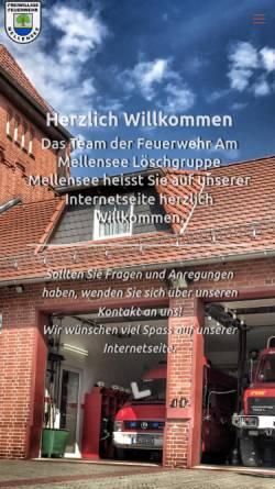 Vorschau der mobilen Webseite www.feuerwehr-mellensee.de, Freiwillige Feuerwehr Mellensee