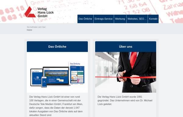 Vorschau von www.vhl-online.de, Verlag Hans Lück GmbH