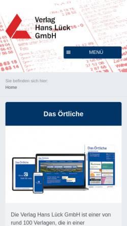 Vorschau der mobilen Webseite www.vhl-online.de, Verlag Hans Lück GmbH