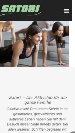Vorschau der mobilen Webseite www.satori.in, Satori Fitness Club Babelsberg