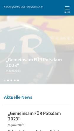 Vorschau der mobilen Webseite www.stadtsportbund-potsdam.de, Stadtsportbund Potsdam e.V.
