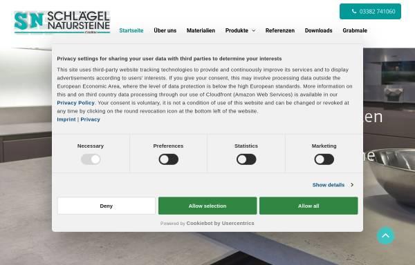 Vorschau von www.schlaegel-natursteine.de, Schlägel Natursteine GmbH