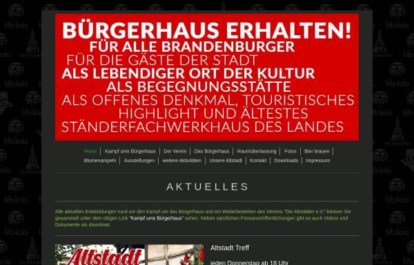 Vorschau von brandenburg-altstadt.de, Die Altstädter e.V.