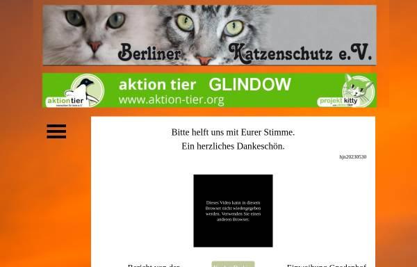 Vorschau von www.berliner-katzenschutz.de, Berliner Katzenschutz e.V. - Tierheim Glindow