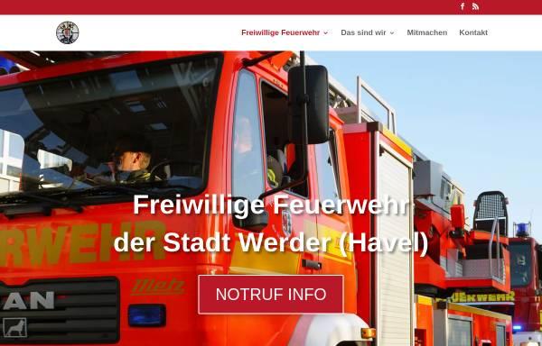 Vorschau von www.feuerwehr-werder.de, Freiwillige Feuerwehr Werder (Havel)