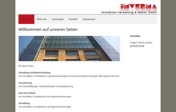 Vorschau von www.imverma.de, Immobilien - Verwaltung und Makler GmbH (IMVERMA)