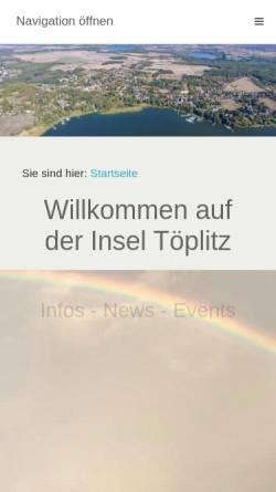 Vorschau der mobilen Webseite www.toeplitz-portal.de, Töplitz-Portal