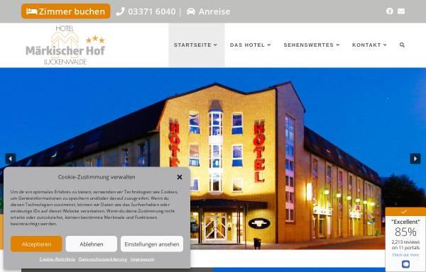 Vorschau von www.maerkischerhof.de, Hotel Märkischer Hof