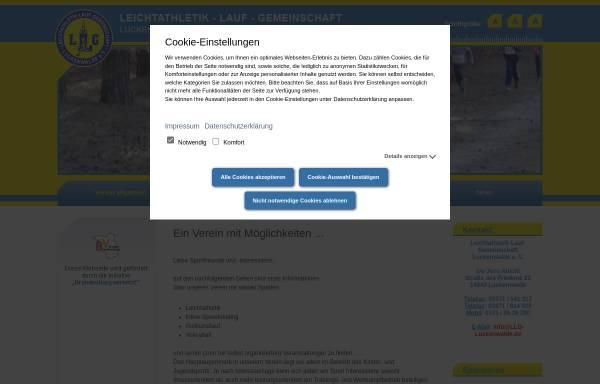 Vorschau von www.llg-luckenwalde.de, Leichtathletik-Lauf-Gemeinschaft Luckenwalde e.V