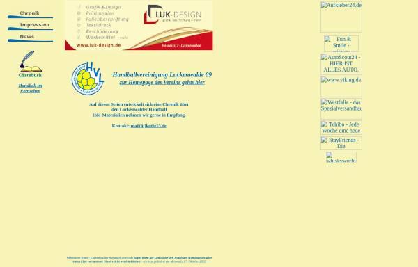 Vorschau von www.luckenwalder-handball-verein.de, Luckenwalder Handballverein