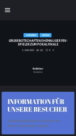 Vorschau der mobilen Webseite www.fsv63-luckenwalde.de, Luckenwalder Sportverein FSV63