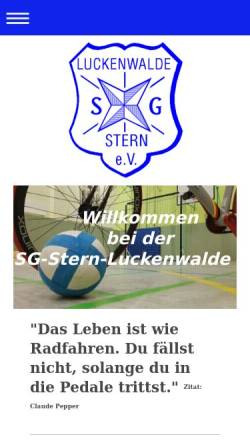 Vorschau der mobilen Webseite www.sg-stern-luckenwalde.de, SG Stern Luckenwalde