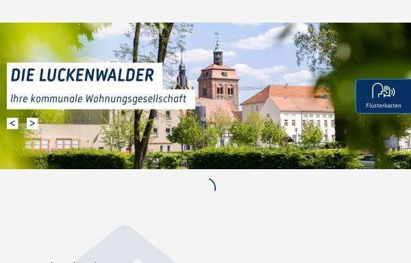 Vorschau von www.die-luckenwalder.de, Luckenwalder Gemeinnützige Wohnungsbau-Gesellschaft mbH