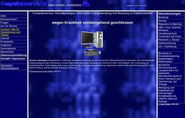 Vorschau von www.hs-computerservice.de, Computerservice Heiko Schöber