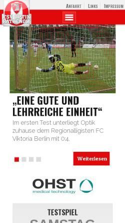 Vorschau der mobilen Webseite www.fsv-optik.de, FSV Optik Rathenow