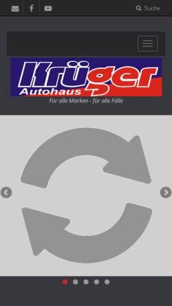 Vorschau der mobilen Webseite www.krueger-autohaus.de, Autohaus Krüger GmbH