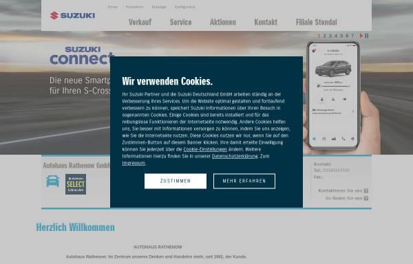 Vorschau von handel.suzuki.de, Autohaus Rathenow GmbH