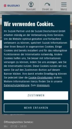 Vorschau der mobilen Webseite handel.suzuki.de, Autohaus Rathenow GmbH