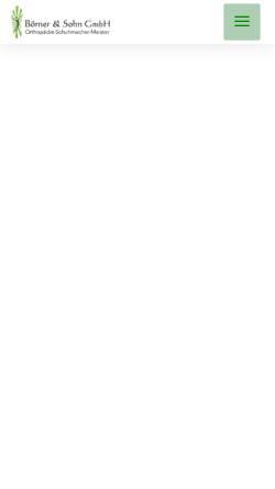 Vorschau der mobilen Webseite www.boerner-schuhorthopaedie.de, Börner & Sohn GmbH