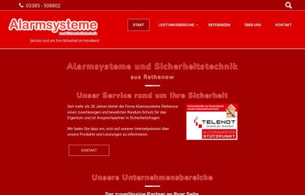 Vorschau von www.alarmsysteme-rathenow.de, Hackmann & Reinhold GmbH