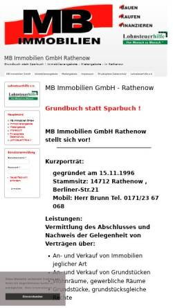 Vorschau der mobilen Webseite www.mb-immobilien-gmbh.de, MB-Immobilien GmbH