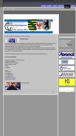 Vorschau der mobilen Webseite www.galvaniseurinnung.de, OTR Oberflächentechnik GmbH