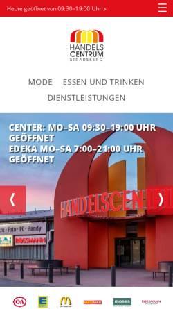 Vorschau der mobilen Webseite www.handelscentrum.de, Handelscentrum Strausberg