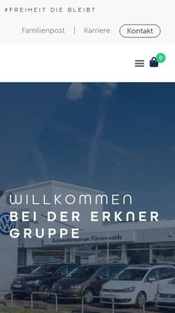 Vorschau der mobilen Webseite www.sven-erkner.de, Sven Erkner Automobile