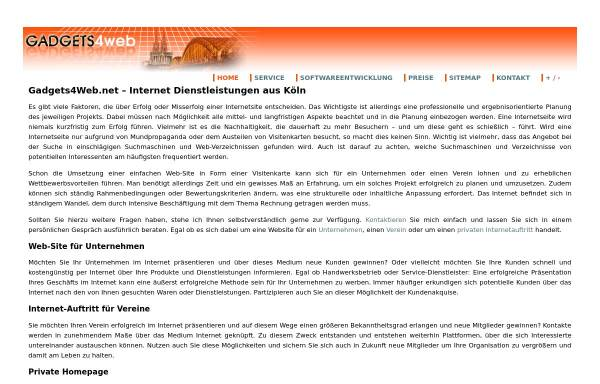 Vorschau von www.gadgets4web.net, Gadgets4Web.net, Inhaber Alexander Müller