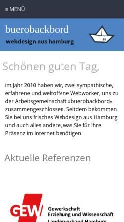 Vorschau der mobilen Webseite www.reuterreklame.de, Christian Reuter, Internet-Agentur