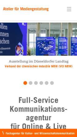Vorschau der mobilen Webseite www.afm-koeln.de, Atelier für Mediengestaltung Doering, Kern, Günther GbR