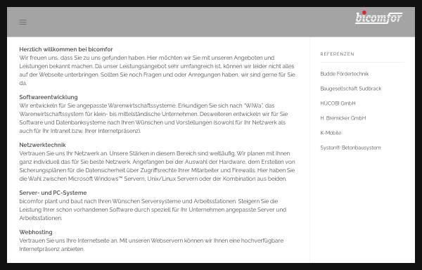Vorschau von www.bicomfor.de, Bicomfor - Bornholz und Schwarzer GbR